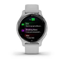 Смарт-часы Garmin Venu 2S, Wi-Fi, GPS, серебристые с силиконовым ремешком (010-02429-12) #1