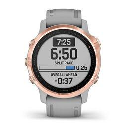 Мультиспортивные часы Garmin Fenix 6S Sapphire с GPS, розов.золото с серым ремешком (010-02159-21) #1