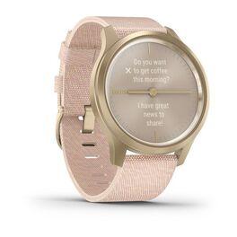 Часы с трекером активности Garmin VivoMove Style золотистый с роз. плетеным ремешком (010-02240-22) #2