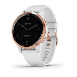 Смарт часы garmin vivoactive 4s белые с золотистым безелем. Артикул: 010-02172-23