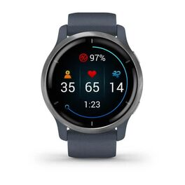 Смарт-часы Garmin Venu 2, Wi-Fi, GPS, синий гранит с силиконовым ремешком (010-02430-10) #7