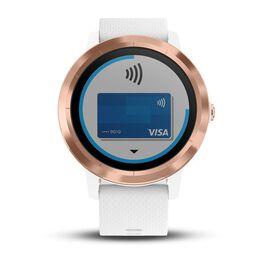 Смарт часы Garmin Vivoactive 3 розовое золото, бел.силик.ремешок ( 010-01769-07) #1
