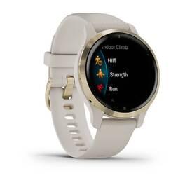 Смарт-часы garmin venu 2s, wi-fi, gps, песочные, золото, с силиконовым ремешком. Артикул: 010-02429-11