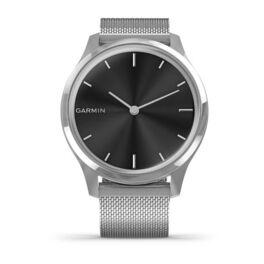 Часы с трекером активности Garmin VivoMove Luxe серебристый с серебристым ремешком (010-02241-23) #1