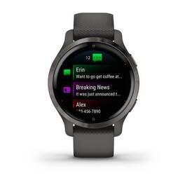 Смарт-часы Garmin Venu 2S, Wi-Fi, GPS, серые с силиконовым ремешком (010-02429-10) #1