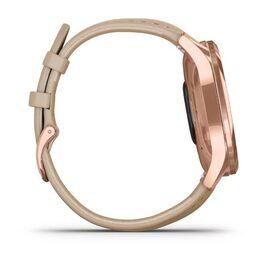 Часы с трекером активности Garmin VivoMove Luxe роз. золото PVD 18K с кожан. ремешком (010-02241-21) #4