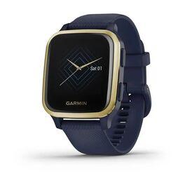 Смарт-часы garmin venu sq nfc music с золотистым безелем и синим ремешком. Артикул: 010-02426-12