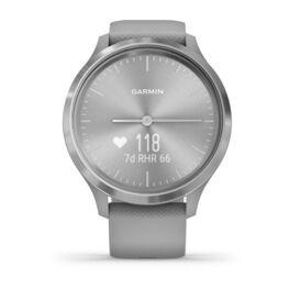 Часы с трекером активности Garmin VivoMove 3, серебр. с серым силиконовым ремешком (010-02239-20) #6