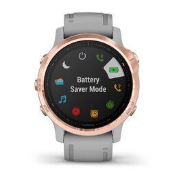 Мультиспортивные часы Garmin Fenix 6S Sapphire с GPS, розов.золото с серым ремешком (010-02159-21) #6