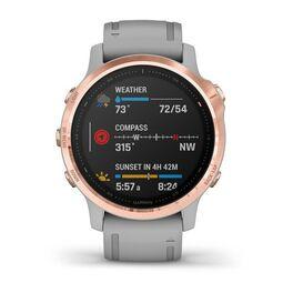 Мультиспортивные часы Garmin Fenix 6S Sapphire с GPS, розов.золото с серым ремешком (010-02159-21) #3