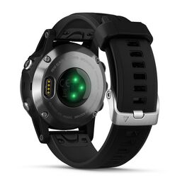 Мультиспортивные часы Garmin Fenix 5S PLUS Glass серебр. с черным ремешком (010-01987-21) #3