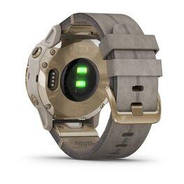 Мультиспортивные часы Garmin Fenix 6S Pro Solar GPS, золотист. с серым замш. ремешком (010-02409-26) #8