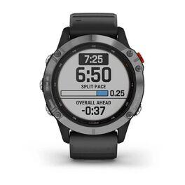 Мультиспортивные часы Garmin Fenix 6 Solar с GPS, серебристые с черным ремешком (010-02410-00) #2