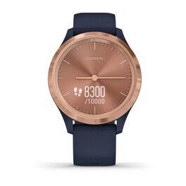 Часы с трекером активности Garmin VivoMove 3S, роз. золото с темно-синим ремешком (010-02238-23) #3