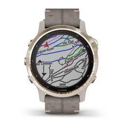 Мультиспортивные часы Garmin Fenix 6S Pro Solar GPS, золотист. с серым замш. ремешком (010-02409-26) #6