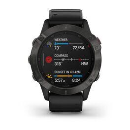 Мультиспортивные часы Garmin Fenix 6 Sapphire с GPS, серые с черным ремешком (010-02158-11) #3