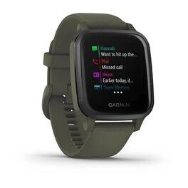 Смарт-часы Garmin Venu Sq NFC Music с серым безелем и темно-зеленым ремешком (010-02426-13) #1