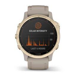 Мультиспортивные часы Garmin Fenix 6S Pro Solar GPS, золотистый с песочным ремешком (010-02409-11) #7