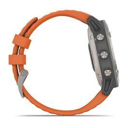 Мультиспортивные часы Garmin Fenix 6 Sapphire с GPS, титановый с оранжевым ремешком (010-02158-14) #4