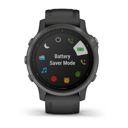 Мультиспортивные часы Garmin Fenix 6S Sapphire с GPS, серые с черным ремешком (010-02159-25) #6