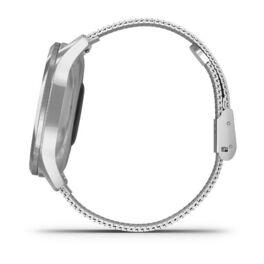 Часы с трекером активности Garmin VivoMove Luxe серебристый с серебристым ремешком (010-02241-23) #7
