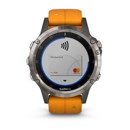 Мультиспортивные часы Garmin Fenix 5 PLUS Sapphire RUSSIA титан с оранжевым ремешком (010-01988-16) #3