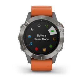 Мультиспортивные часы Garmin Fenix 6 Sapphire с GPS, титановый с оранжевым ремешком (010-02158-14) #6