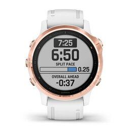 Мультиспортивные часы Garmin Fenix 6S PRO с GPS, розов.золото с белым ремешком (010-02159-11) #1