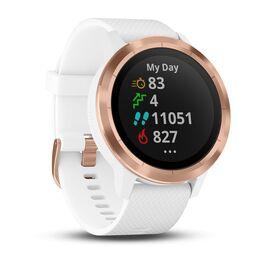 Смарт часы Garmin Vivoactive 3 розовое золото, бел.силик.ремешок ( 010-01769-07) #2