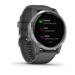 Смарт часы Garmin Vivoactive 4 серые с серебристым безелем (010-02174-03) #2