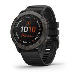 garmin fenix 6x pro solar часы с gps, титановый безель с черным ремешком. Артикул: 010-02157-21