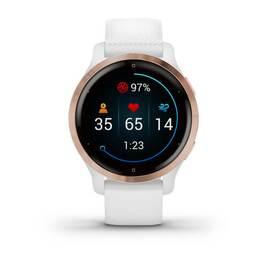 Смарт-часы Garmin Venu 2S, Wi-Fi, GPS, белые, розовое золото, с силиконовым ремешком (010-02429-13) #7