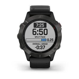 Мультиспортивные часы Garmin Fenix 6 Sapphire с GPS, серые с черным ремешком (010-02158-11) #1