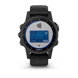 Мультиспортивные часы Garmin Fenix 5S PLUS Sapphire черные с черным ремешком (010-01987-03) #2