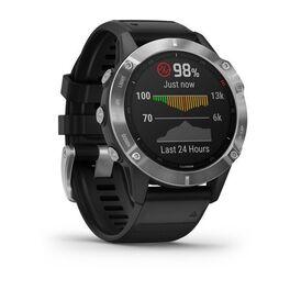 Мультиспортивные часы Garmin Fenix 6 с GPS, серебристые с черным ремешком (010-02158-00) #2