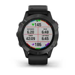 Мультиспортивные часы Garmin Fenix 6 Sapphire с GPS, серые с черным ремешком (010-02158-11) #5