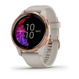 Смарт-часы garmin venu, wi-fi, sand/rose gold с gps. Артикул: 010-02173-23