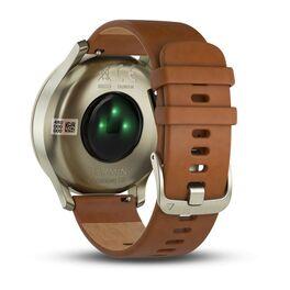 Часы с трекером активности Garmin VivoMove HR Premium, золото, пульсометр, р-р S/M (010-01850-25) #1