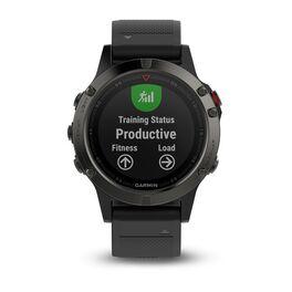 Мультиспортивные часы Garmin Fenix 5 с GPS, серые с черным ремешком (010-01688-00) #1