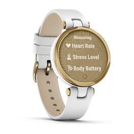 Фэшн смарт-часы Garmin Lily LightGold White Leather (010-02384-B3) #2