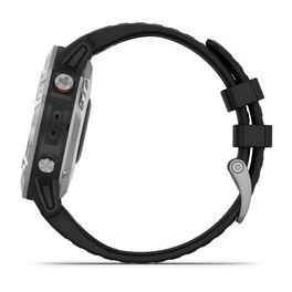 Мультиспортивные часы Garmin Fenix 6 с GPS, серебристые с черным ремешком (010-02158-00) #9