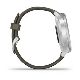 Часы с трекером активности Garmin VivoMove Style серебристый с травяным ремешком (010-02240-21) #4