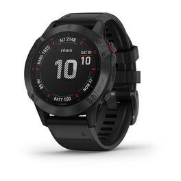 Мультиспортивные часы garmin fenix 6 pro с gps, черные с черным ремешком. Артикул: 010-02158-02
