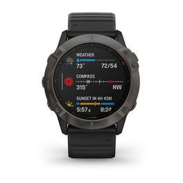 Мультиспортивные часы Garmin Fenix 6X Sapphire с GPS, серые с черным ремешком (010-02157-11) #3