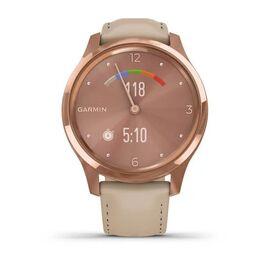 Часы с трекером активности Garmin VivoMove Luxe роз. золото PVD 18K с кожан. ремешком (010-02241-21) #6