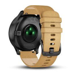 Часы с трекером активности Garmin VivoMove HR Premium, черные, кожа светло-коричн. (010-01850-00) #3