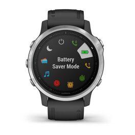 Мультиспортивные часы Garmin Fenix 6S с GPS, серебристые с черным ремешком (010-02159-01) #3