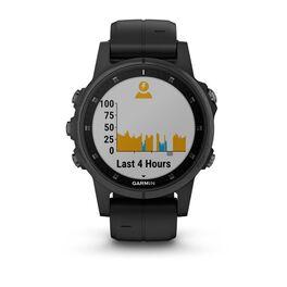 Мультиспортивные часы Garmin Fenix 5S PLUS Sapphire черные с черным ремешком (010-01987-03) #4