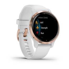 Смарт-часы garmin venu 2s, wi-fi, gps, белые, розовое золото, с силиконовым ремешком. Артикул: 010-02429-13