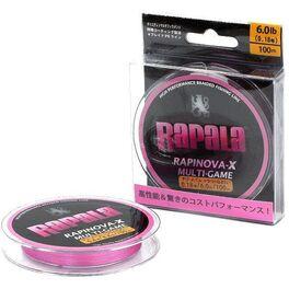 Леска плетеная rapinova-x multi game 150m #1.0/20.8lb/pink 0.16 мм (rlx150m10pk). Артикул: RLX150M10PK